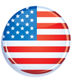 Picture of the US flag on a political button.